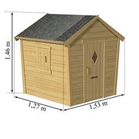 maisonnette bois soulet achat maisonnette bois soulet pas cher soldes rueducommerce. Black Bedroom Furniture Sets. Home Design Ideas