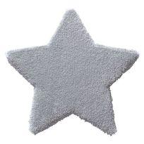 Belly Button - Tapis Etoile Bb Gris par pour chambre bebe garçon ou fille - Couleur - Gris, Taille - 80 / 80 cm