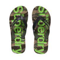 Superdry - Tongs Classic Camo Flip Flop Black /khaki
