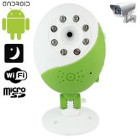 Yonis - Caméra Wifi Babycam vision nocturne Android iPhone support Vert