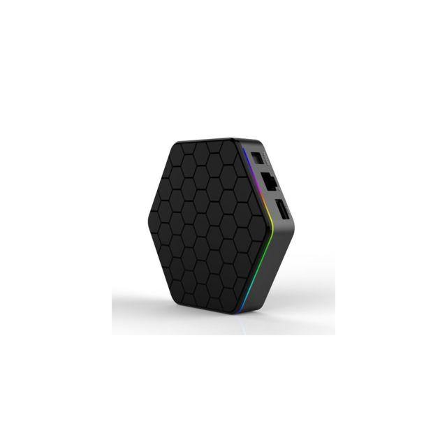 Auto-hightech Box Tv en forme d'hexagone Android 6.0 16.0 Octa Core 2 + 16Go double WiFi 2.4G / 5G Lecteur Média en Streaming – Prise
