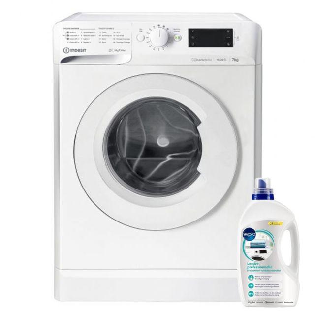 Indesit Lave-linge Frontal 7kg A+++ 1400trs/min Anti-tache Machine à laver hublot