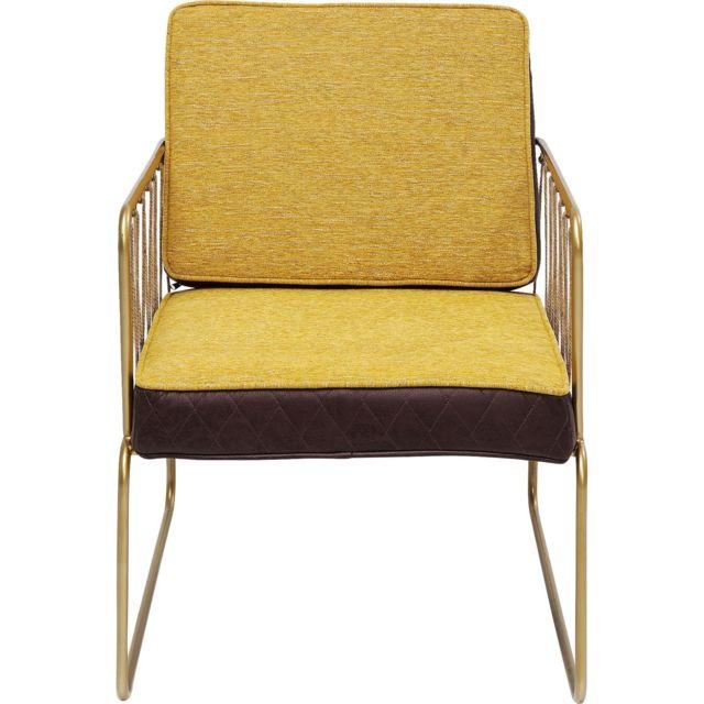 Karedesign Fauteuil Cord jaune Kare Design