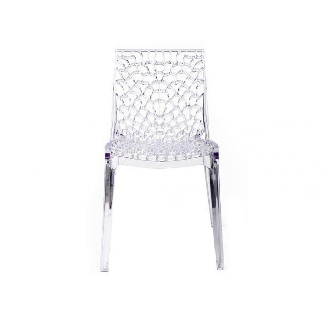 RUE DU COMMERCE Chaise Transparente GRUVYER - S6316TR Asseyez vous confortablement, l'essayer, c'est l'adopter!