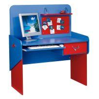 COMFORIUM - Bureau enfant 114 cm avec 1 tiroirs design cars disney coloris rouge et bleu