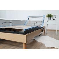 Ensemble relaxation accueil latex 3 zones + sommier avec réglage fermeté au niveau lombaire