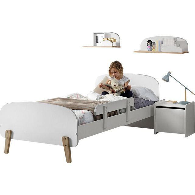 comforium ensemble chambre enfant 5 pices design scandinave avec lit 90x200 chevet lot - Lit Scandinave Enfant