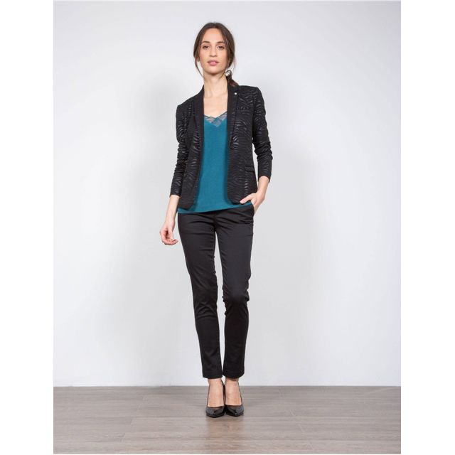 c5d75cbd1a7b Lpb Woman - blazer Print Zebre - 1145 - pas cher Achat   Vente Veste femme  - RueDuCommerce