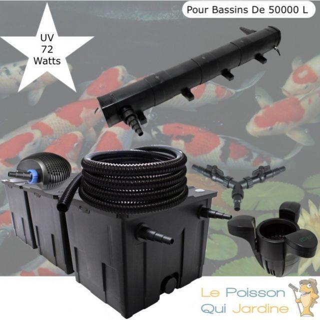 Le Poisson Qui Jardine Kit filtration complet 72W + écumeur pour bassins de 50000 litres