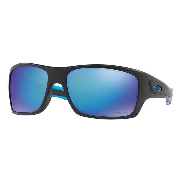 9d1fc46c866b8 Oakley - Lunettes Turbine Fade Sport Collection noir avec verres Prizm  Sapphire Polarized - pas cher Achat   Vente Lunettes - RueDuCommerce