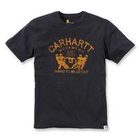CARHARTT - T-shirt coton manches courtes avec logo Vintage noir L S1102097001L