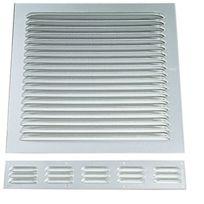 Anjos Ventilation - Grille D'AERATION Aluminium En Applique - Finition:Blanc - Haut. mm:250 x 250 - Larg. mm:240 - Passage d'air cm²