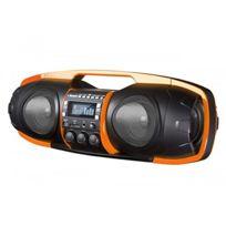 Boombox - sdigital Go de 6000 Nuke Bluetooth/Ghetto Blaster Radio Fm, Mp3, Usb, Sd, Power Bank, Aux-in, prise micro, Noir/Orange