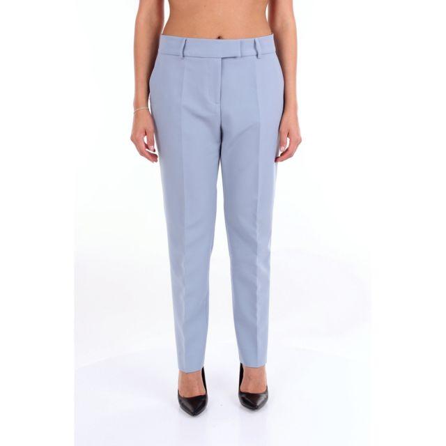 Alessandro Dell'ACQUA Femme Adw7016T181BECIELO Bleu Claire Pantalon