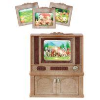 SYLVANIAN FAMILIES - Sylvanian Family 4264 : Meuble télévision couleur
