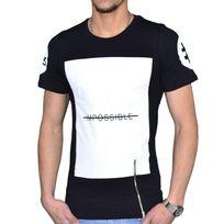 Celebrytees - Celebry Tees - T Shirt - Homme - Impossible Zip - Noir