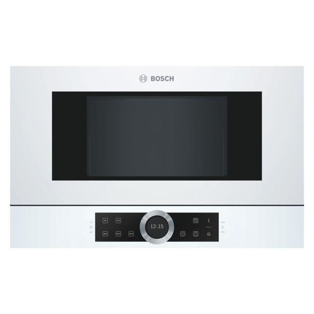 Bosch micro-ondes encastrable 21l 900w blanc - bfl634gw1