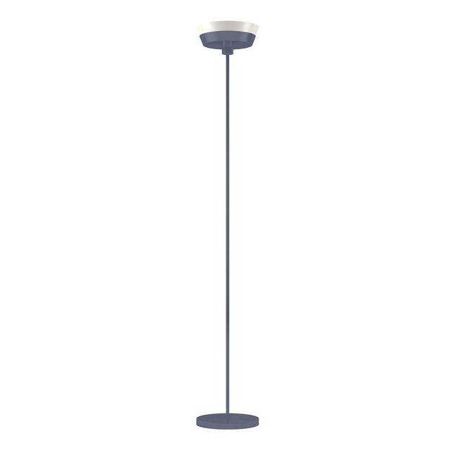 Lampadaire gris à éclairage indirect lampe Led circulaire Design