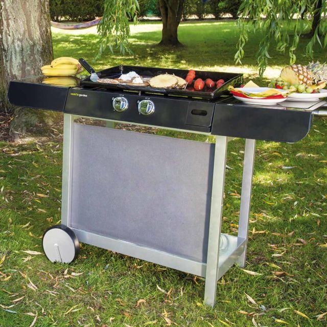 Cook in garden - Plancha Finesta 63 sur chariot - Cook'in garden