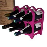 DrinkCase - Casiers 6 bouteilles - Bordeaux Fuchsia