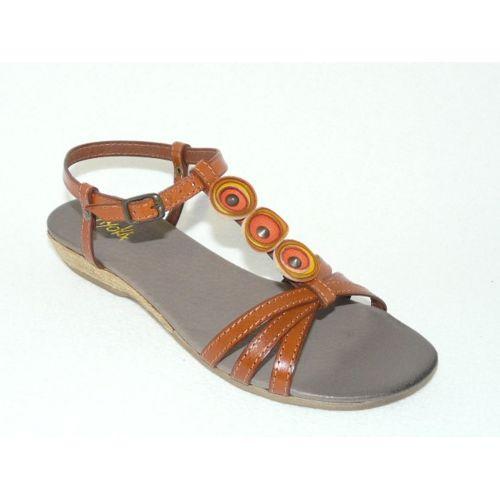 812876826953b Ayoka - Sandales chaussures femme mode Cuir marron - pas cher Achat ...