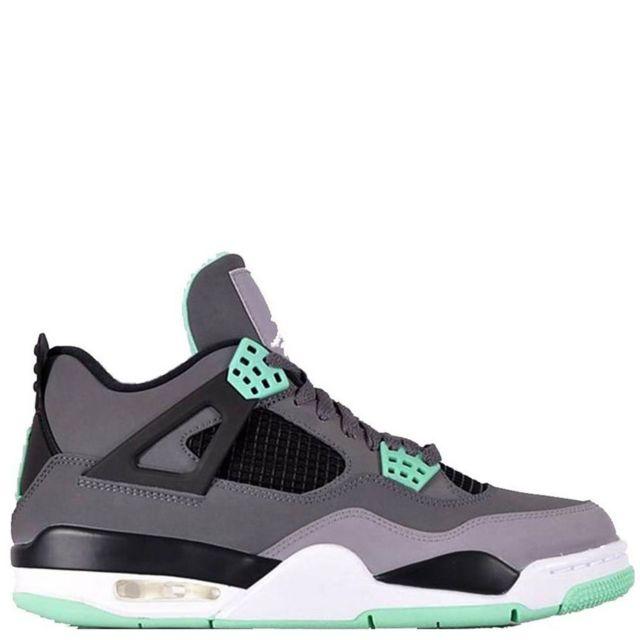 info for fa035 c6b1e Jordan - Nike Air 4 Retro Iv Green Glow 308497-033 Dark GreyGreen  GlowCement Black Gris - pas cher Achat  Vente Baskets homme -  RueDuCommerce