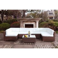 Fauteuil salon marron blanc - catalogue 2019 - [RueDuCommerce ...