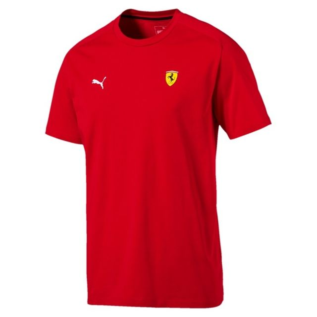 ferrari f1 t shirt ferrari 2018 logo rouge pour homme taille l pas cher achat vente tee. Black Bedroom Furniture Sets. Home Design Ideas