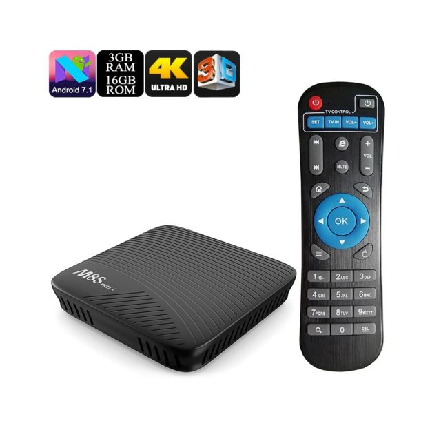 Auto-hightech Box Tv Android- processeur Octa Core, 3 Go de Ram, Android 7.1, Airplay, Miracast, Dlna, Kodi 17,3