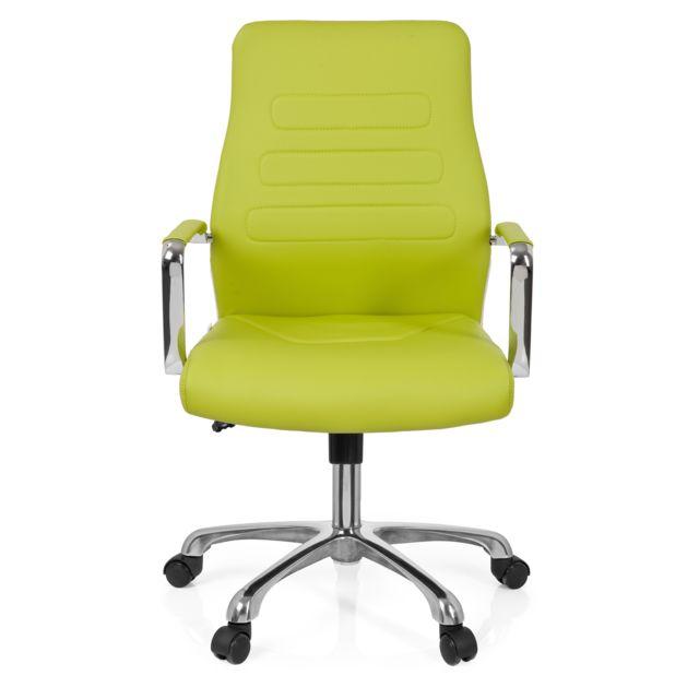 Hjh Office Chaise de bureau / Fauteuil de direction Tewa simili cuir vert