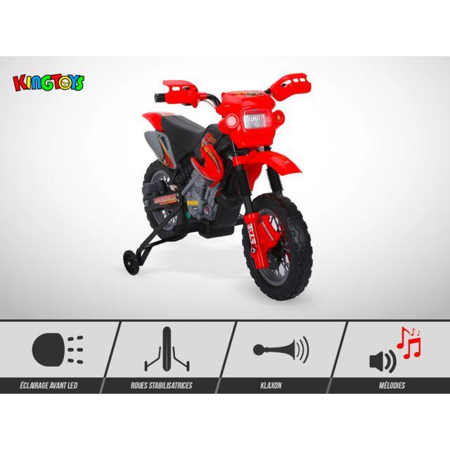 Kingtoys Moto électrique enfant - Cobra 18W - Rouge
