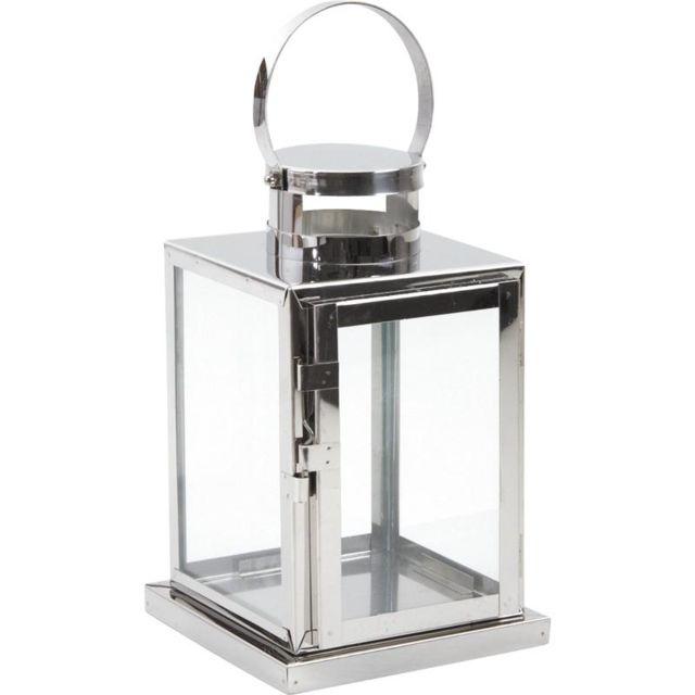 AUBRY GASPARD - Lanterne de jardin métal brossé