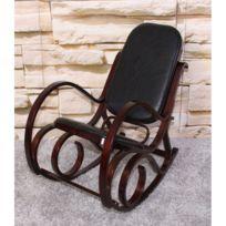 Rocking Chair Fauteuil /à Bascule Velours Moutarde Ewan Atmosphera