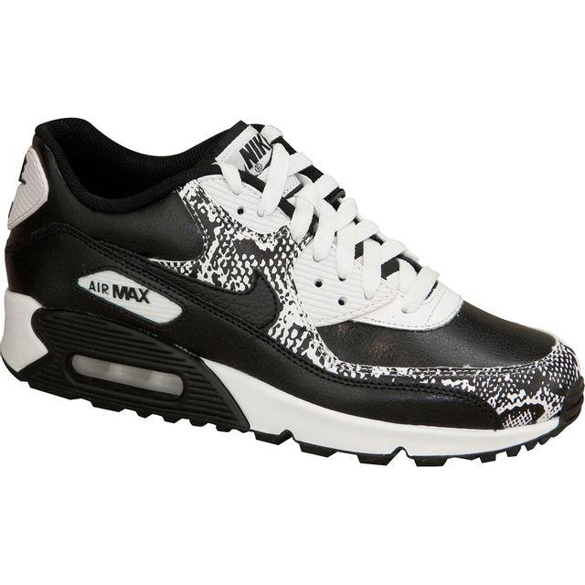 sports shoes 37935 10d6e Nike - Nike Air Max 90 Premium Ltr Gs 724871-001 Blanc