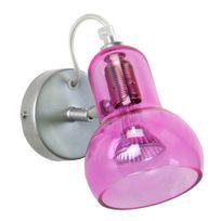 Tosel - Spot simple orientable en métal avec projecteur en verre longueur 17cm Vianne - Rose