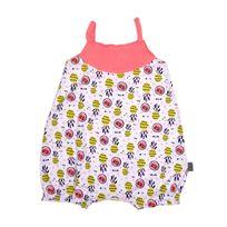 Petit Beguin - Barboteuse à bretelles et motifs bébé fille Fun Paradise - Taille - 6 mois 68 cm