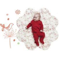 Wallaboo - Couverture Fleur Rouge Toutes saisons