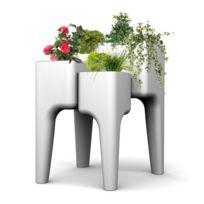 Hurbz - Jardinière multi-pots blanche Kiga M en polypropylène