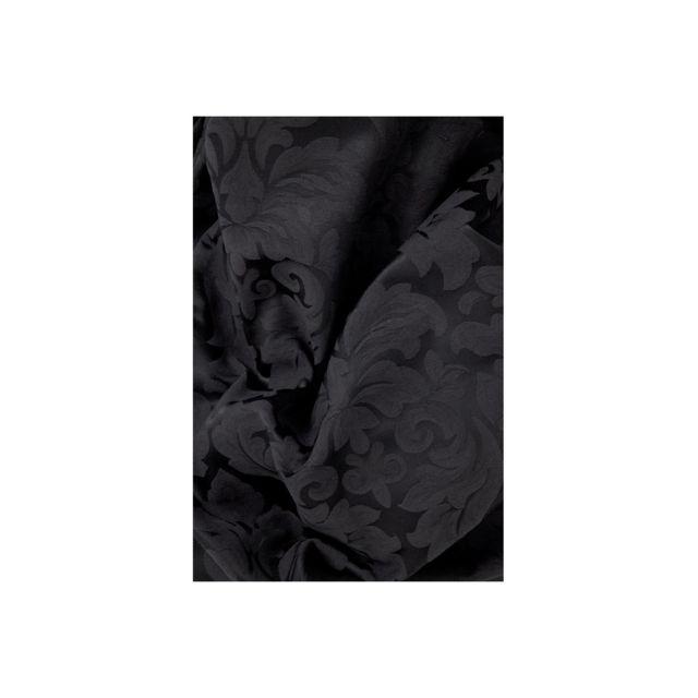 Rideau Jacquard Coton /à Oeillets 135 x 240 cm Motif Fleur Baroque Rouge