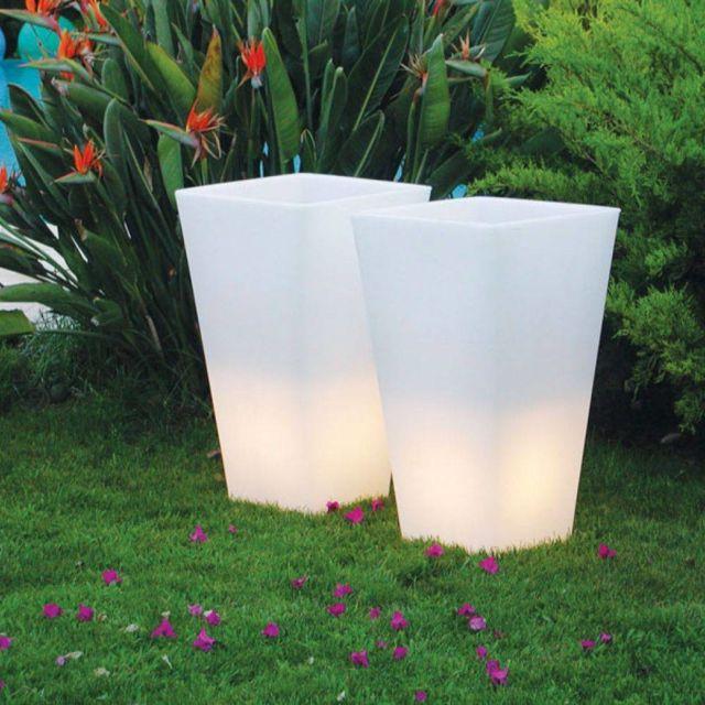 slide y pot light pot lumineux d 39 exterieur h74cm et l43cm pas cher achat vente borne. Black Bedroom Furniture Sets. Home Design Ideas