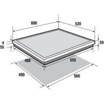 De dietrich table de cuisson induction 4 foyers - Table induction de dietrich dti1358dg ...