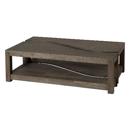 Table basse rectangulaire bipartite Hambourg - marron