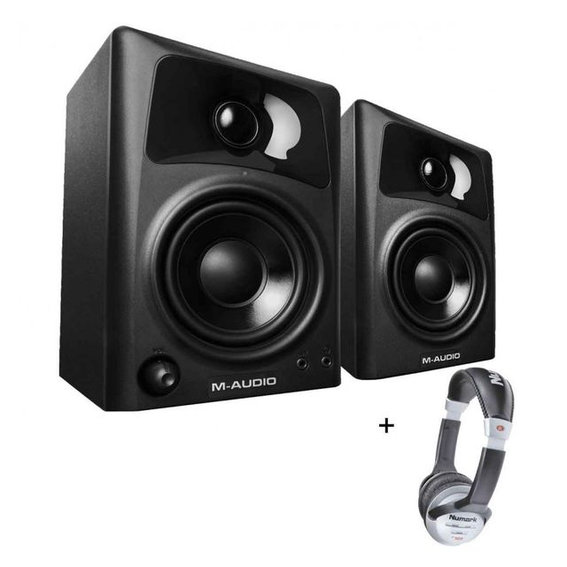 M-audio Pack Studiophile Av 32 - Enceinte multimédia 2 voies 2x10 w paire, + Casque