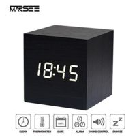 Digital Réveil Avec Vocale Voyage Ou Par Usb Horloge Matin Yfyb76Igv