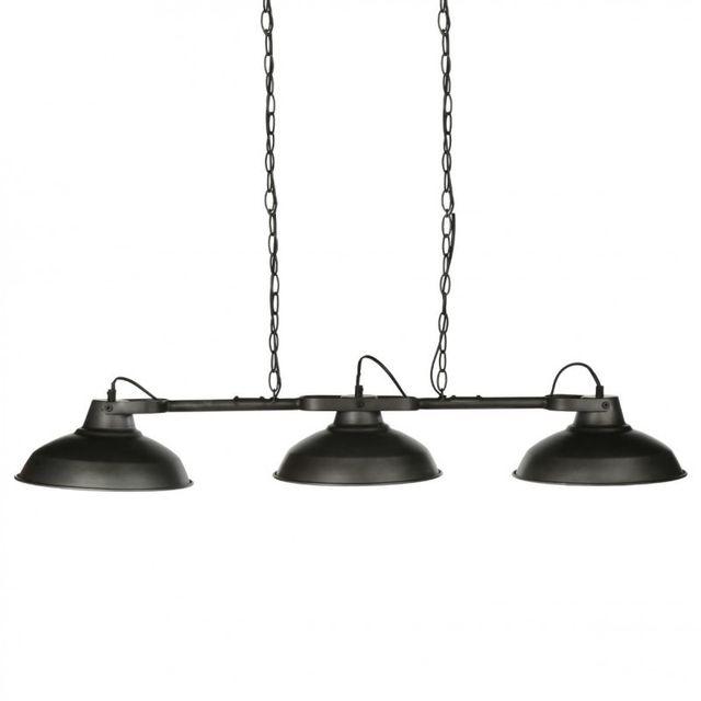 Suspension Têtes Métal Noir Lampe 3 NO0vwnm8