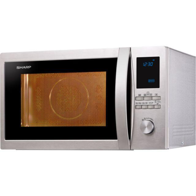 Sharp micro-ondes grill et chaleur tournante 32l 1000w inox - r922stw
