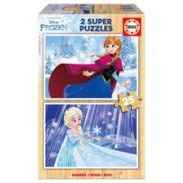 Educa - Puzzle 2 x 25 pièces : La Reine des Neiges Frozen