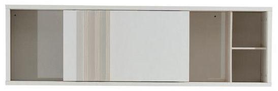 étagère Murale 120 Cm Coloris Chêne Et Blanc
