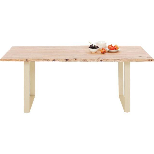 Karedesign Table Harmony acacia laiton 180x90cm Kare Design