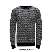 Jack&JONES - Pull Tricot Jack and Jones col rond Zayden Navy 12094903